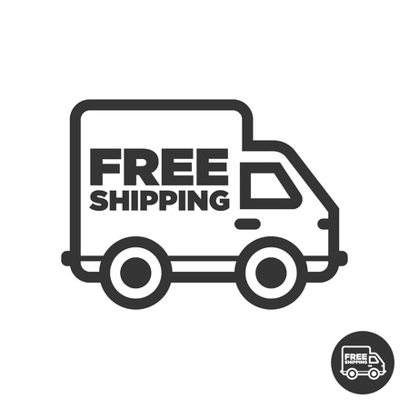 Free fast delivery shipping truck icon