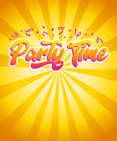 Happy Birthday Party Time Invitation Card