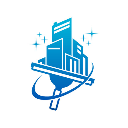 Window Washing Cleaning Logo Icon