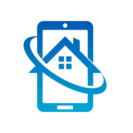 Mobile Phone Real Estate House Icon