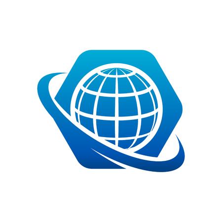 Swoosh World Globe Logo Icon