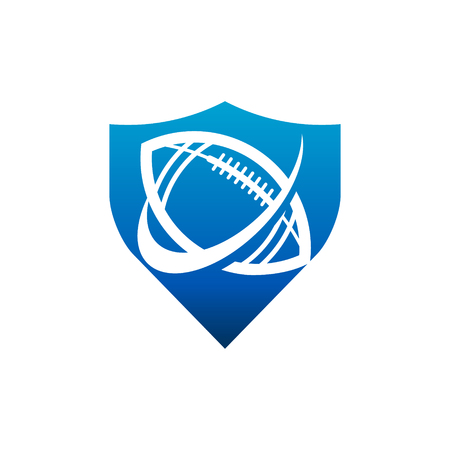 Swoosh American Football Shield Logo Icon