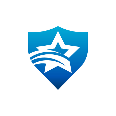 Swoosh Star Shield Logo Icon