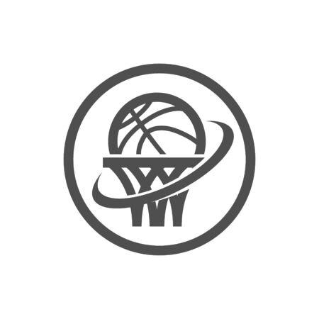 Basketball net logo icon