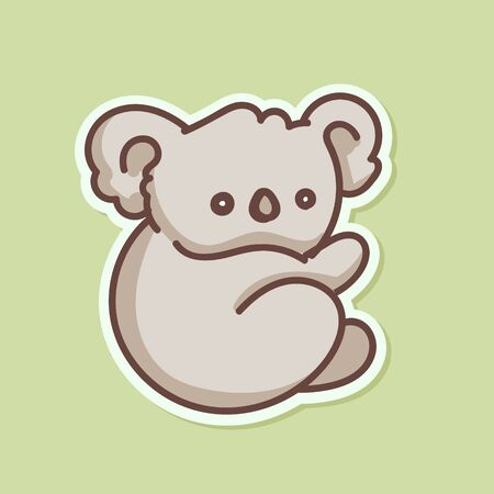 Koala baby bear illustration
