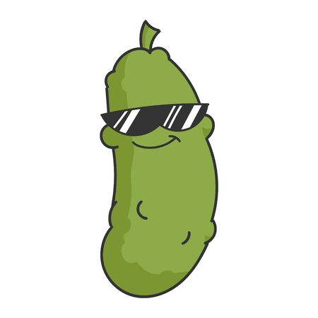 Cool Sunglasses Dill Pickle Cartoon