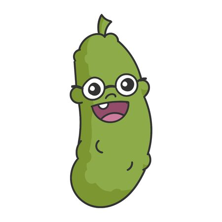 Nerd Dill Eye Glasses Pickle Cartoon