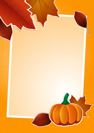 Autumn picture and text frame Vector
