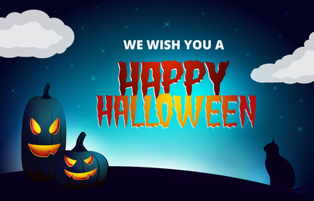 Vector halloween wish card Vector