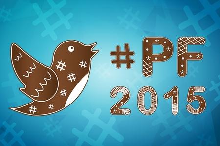 PF wish card 2015 vector illustration Illustration