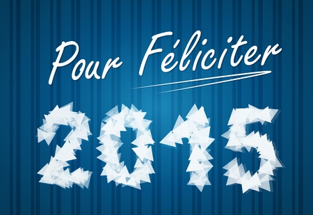 pour feliciter: PF wish card 2015 vector illustration Illustration