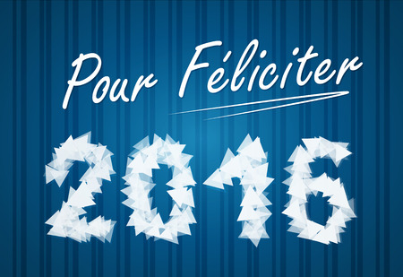 pour feliciter: PF wish card 2016 vector illustration