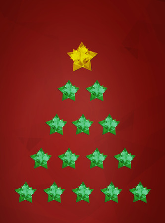 Christmas wish card vector illustration Illustration