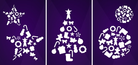 Christmas ornaments vector illustration Vector