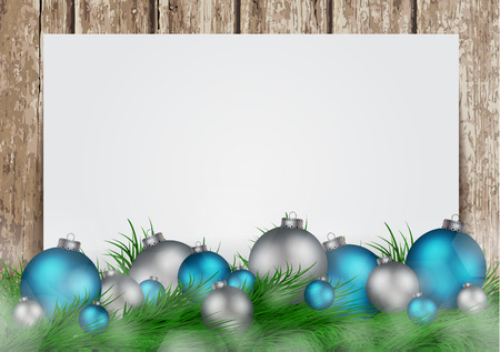 invation: Christmas background with frame for image and text vector illustration Illustration