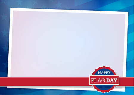 American flag background with frame