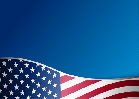 Amerikaanse vlag achtergrond met frame