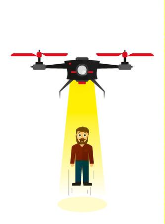 ser humano: Volar aviones no tripulados secuestrar a un ser humano en estilo plano