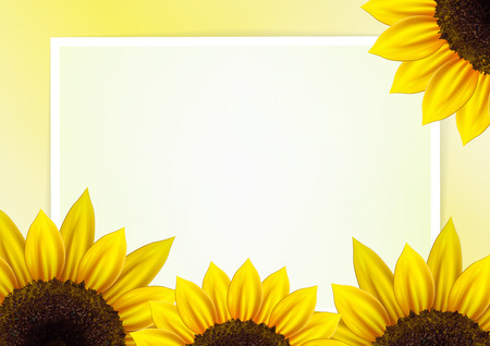 Sunflower background for image and text