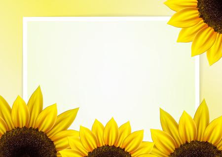 Zonnebloem achtergrond voor beeld en tekst Stock Illustratie