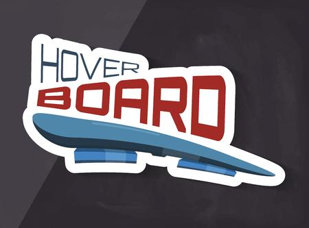 backgrund: hoverboard creative graphic on dark backgrund