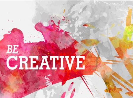 creatieve achtergrond met aquarel plons vectorillustratie