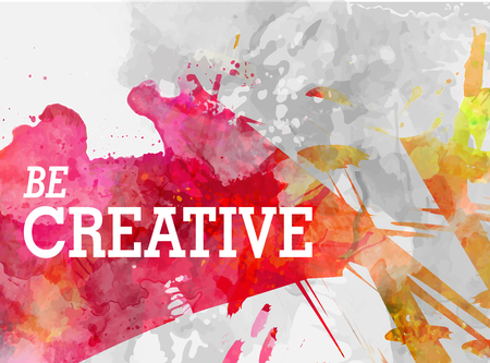 creative background with watercolor splash vector illustration