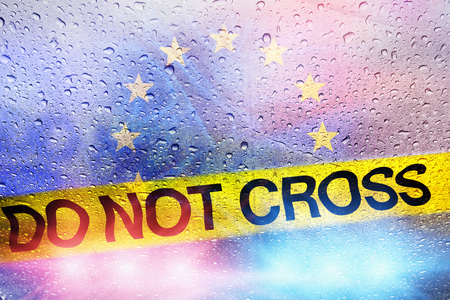 Police do not cross europe union, europe migrant concept, europe police concept