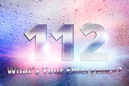 emergency call: emergency europe union call,  europe police concept, emergency call 112