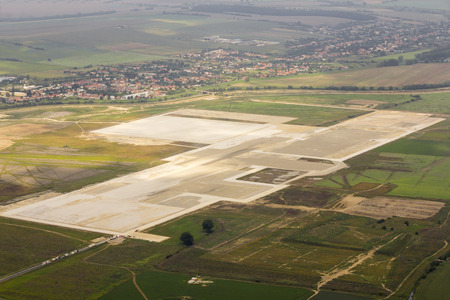 Land for land rover facility in Nitra, Slovakia, aerial view