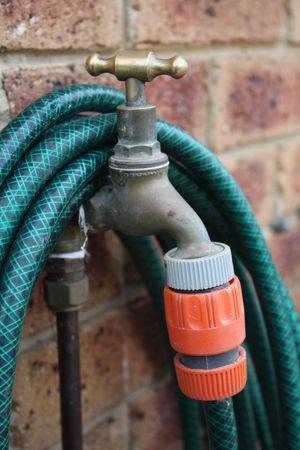 garden water tap 스톡 사진