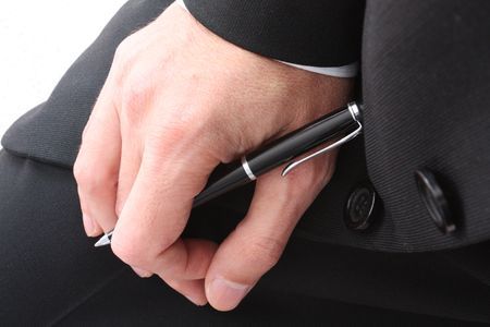 Business hand with pen Stock Photo - 3020347
