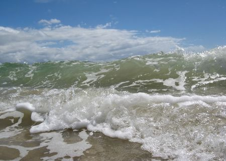 crashing: waves crashing at the shore