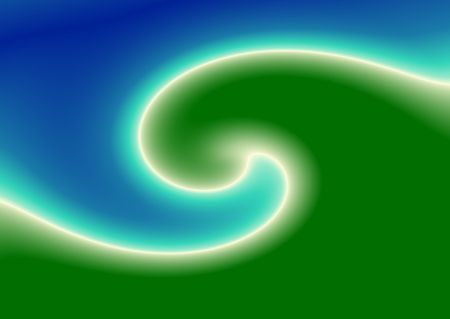 abstract green wave 스톡 사진