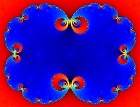 fractal frame Stock Photo