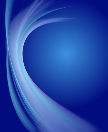Abstract blue gradient background with acqua curves