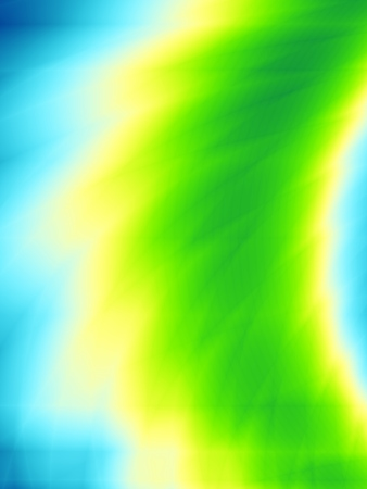 Light blue background with a curved swathe of green and gold