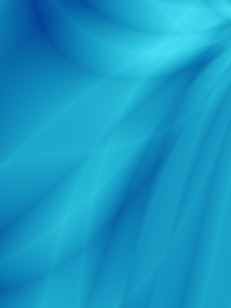 Cool blue gradient abstract background with flowing lines Stock Photo