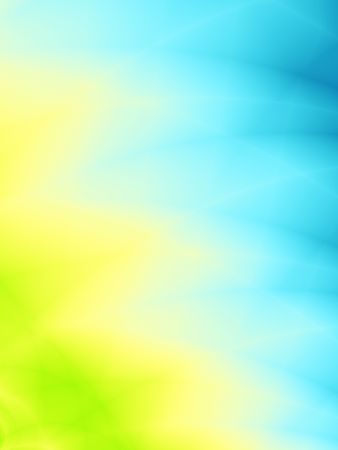 Abstracte gradiënt licht blauwe en gele achtergrond met zachte lijnen Stockfoto