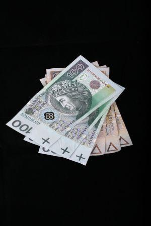 bankroll: polish currency, 100 and 200 zloty banknotes
