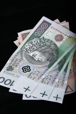 polish currency, banknotes, zloty photo