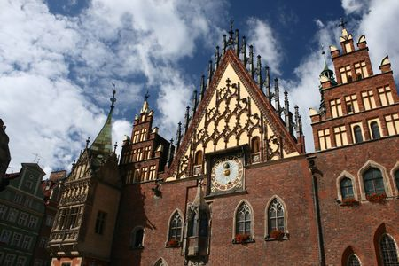City hall in Wroclaw, Poland, landmark, old