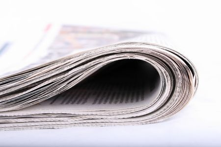 newspaper isolated on white background, news, reading Stock Photo - 3892432