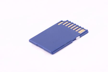 sd card isolated over white background, computers photo
