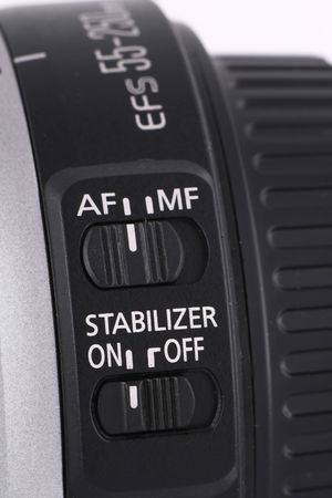 stabilization: lens auto-focus and stabilization switch