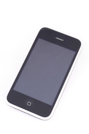 cell phone isolated over white background, technology, touch