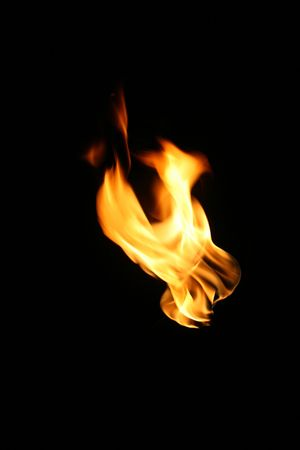 fire, flame over black background Stock Photo - 3887909