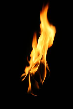 fire, flame over black background