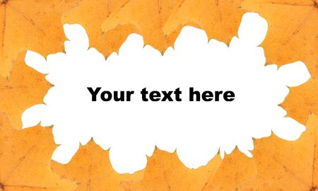 yellow leafs frame, background, insert your text Stock Photo - 3887870