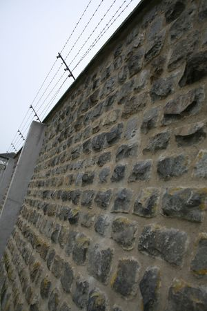 prison wall, barbed wire, maximum security, fence Stock Photo - 3896646